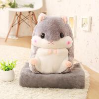?仓鼠龙猫公仔娃娃玩偶可爱超萌韩国睡觉抱枕搞怪毛绒玩具懒人女孩