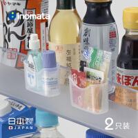 inomata日本进口冰箱调料包挂钩架厨房小醋包方便面酱料包收纳盒
