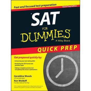 【预订】Sat for Dummies 2015 Quick Prep 9781118911570 美国库房发货,通常付款后3-5周到货!