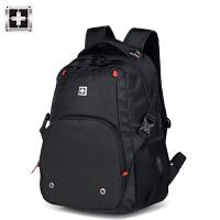 瑞士�p肩包男士背包�刀大容量高中�W生��包旅行包商�招蓍e��X包
