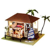 diy小屋海边大型别墅手工创意模型房子生日礼物