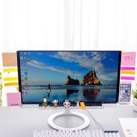 亚克力电脑桌面收纳架显示器侧边留言板屏幕透明便利贴板便签贴板
