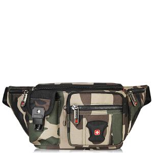 瑞士军刀SWISSGEAR腰包男 防水防刮健身腰包 时尚休闲户外运动包SA8013MC