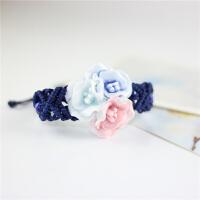 韩版时尚潮流手工编织陶瓷首饰品 捏花手链荷花 女 民族风饰品多款 学生手串