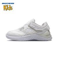 斯凯奇童鞋 (SKECHERS) 男女童鞋 新款魔术贴 Z型搭带休闲鞋 轻便运动户外鞋97755L-WHT0 白色