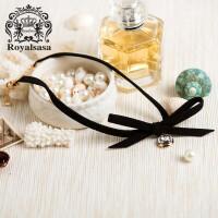 皇家莎莎项链女士锁骨链简约百搭日韩国版植绒颈链项圈情人节礼物