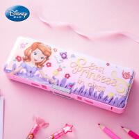 迪士尼文具盒女小学生多功能铅笔盒女孩男孩幼儿园韩创意笔袋削笔刀儿童卡通塑料笔盒1-3年级笔盒