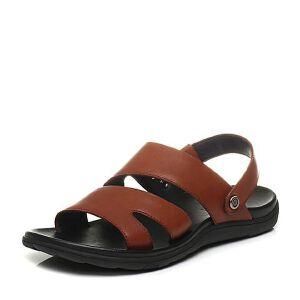 Belle/百丽夏季专柜同款休闲露趾沙滩鞋男凉鞋4VU01BL7