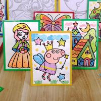 雪花泥珍珠泥创意粘土画 儿童diy雪花泥画手工珍珠泥画 胶画粘画