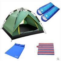 户外折叠耐用帐篷套装四季帐篷户外3-4人全自动家庭室内便携野营露营