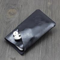 苹果7/6直插套iphone7plus手机皮套iphone7手机包 袋6splus保护套 4.7寸Z角款 亮黑