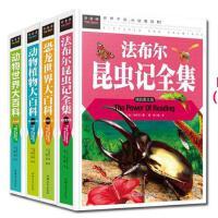 常春藤(4册)动物世界大百科 恐龙世界大百科 法布尔昆虫记 动物植物大百科组合精装图文版青少年书籍儿童读物少儿图书