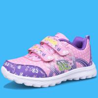 秋季新款童鞋女童运动鞋小学生旅游鞋女孩轻便软底跑步鞋儿童波鞋