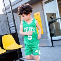 男童运动套装夏装2018新款无袖背心男中大童宝宝运动服儿童篮球服 90cm(吊牌90码 建议身高0.85米及以下)