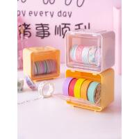 少女心手帐工具文具透明收纳箱杂物塑料分装盒桌面手帐胶带收纳盒