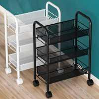 厨房置物架落地多层可移动家用小推车蔬菜篮收纳储物架子用品大全