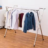 【年货节】ORZ 不锈钢制X型伸缩三杆晒衣架 大型免安装室外晒衣架棉被晾晒架加固型