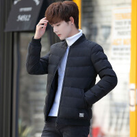 2018新款冬季男装棉衣服修身外套韩版帅气短款潮流羽绒棉袄冬天