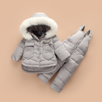 №【2019新款】小朋友穿的羽绒服套装男宝宝冬装外套1-3岁婴幼儿中长款两件套童装