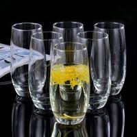 家用玻璃杯茶杯水杯套装办公水具果汁杯牛奶杯圆形杯子
