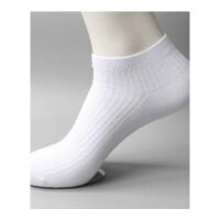 男士棉短筒运动袜棉男袜子不臭脚春秋冬四季黑白袜纯色男袜 均码