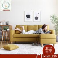 【一件3折】北欧糖果色小户型超舒适布艺沙发DS041 北欧日式单人位双人位三人位