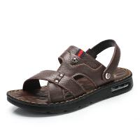 骆驼牌男鞋 夏季新品真皮休闲凉鞋男舒适厚底凉拖鞋沙滩鞋男