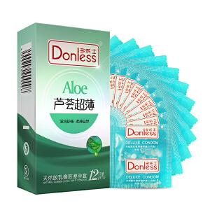 多乐士避孕套芦荟超薄12只/盒芦荟 超薄 水润 保险套 情趣 成人用品