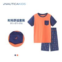 诺帝卡童装 儿童套装夏男童套装短袖+短裤子休闲套装