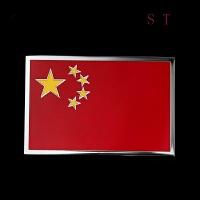 爱国贴标汽车外饰装饰用品中国标金属五星红旗标车贴改装个性贴标