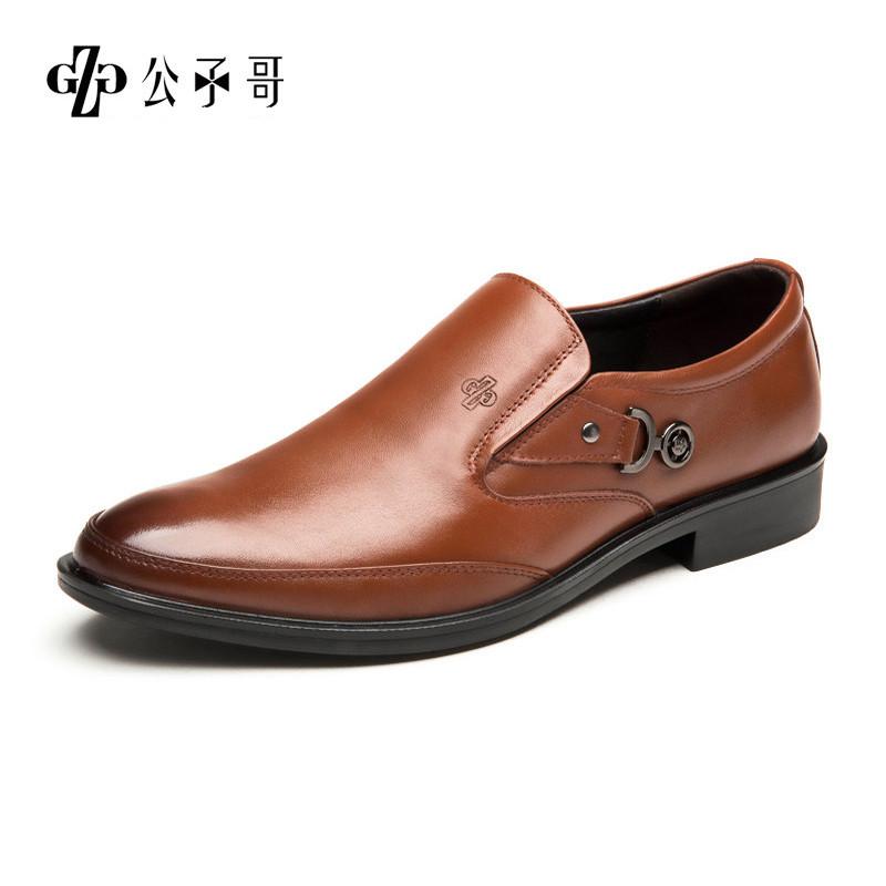 公子哥男鞋商务休闲鞋男套脚