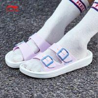 李宁拖鞋女鞋2018新款Clap轻便夏季女士运动鞋AGAN002