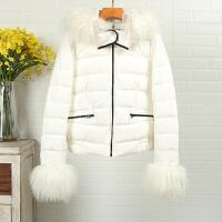 系列剪标女装新款冬7J8053貉子毛领时尚羽绒服潮