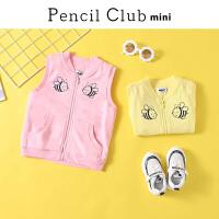 【3件2折:47.8】铅笔俱乐部童装2020春装新款女童马甲小童双层背心儿童外套宝宝
