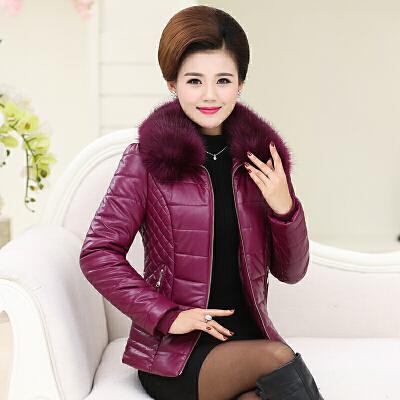 中老年女装冬装羽绒短款pu皮衣外套棉袄中年40加厚妈妈装棉衣 发货周期:一般在付款后2-90天左右发货,具体发货时间请以与客服协商的时间为准