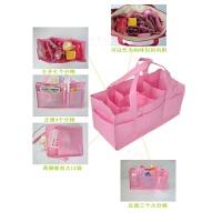 妈咪包多功能大容量内胆分格包收纳袋婴儿外出包妈妈包母婴包 粉色