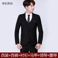 男士西服外套青少年韩版小西装学生休闲西装男套装结婚正装潮xx S 一定要告诉客服身高体重