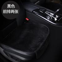 汽车坐垫冬季毛绒单片单座无靠背单个后排车座垫短毛绒保暖三件套