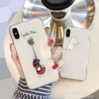 卡通情侣iPhone10X透明手机壳7plus超薄软壳XS/MAX套苹果6s/8男女
