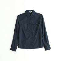 女款春装长袖衬衫 工装帅气纯棉简约休闲衬衣上衣外套 1L