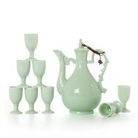 新品陶瓷酒具套装 青瓷传统酒壶 中式家用酒盅小白酒杯高脚杯 年货节