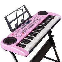 初学音乐玩具1-3-6-12岁 电子琴儿童钢琴玩具61键带麦克风女孩宝宝