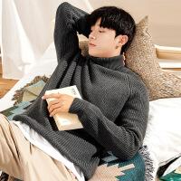 №【2019新款】小伙子穿的秋冬黑色高领毛衣男士韩版宽松潮流个性学生毛衫男针织衫厚