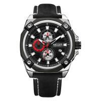 2018新款 新款美格尔手表 多功能计时运动日历石英表男士手表