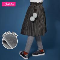 【2件2折价:80.4】笛莎童装女童打底裙裤冬装新款加绒中大童打底裙裤