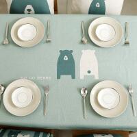 桌布布艺棉麻田园小清新北欧卡通台布餐布茶几布餐桌布简约现代