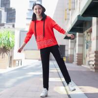 中学生运动服套装女2018秋季新款少女休闲两件套春秋韩版长袖卫衣