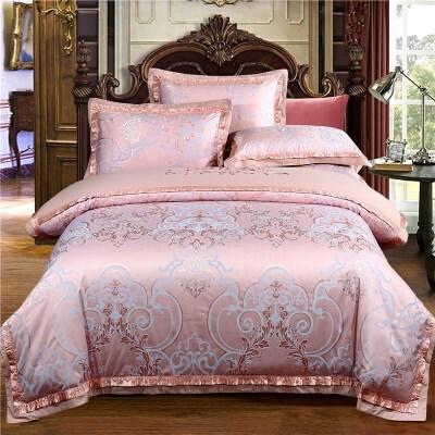 欧式贡缎四件套结婚庆1.8m床上用品2.0m被套双人床单床笠