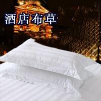 酒店床上用品棉棉白色加密加厚单人枕套枕头套