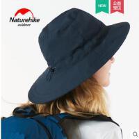 纯色休闲帽子大檐遮阳帽防晒透气钓鱼帽男渔夫帽子户外垂钓装备女
